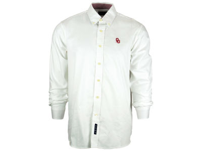 Oklahoma Sooners NCAA Men's Gingham Woven Button Up Shirt