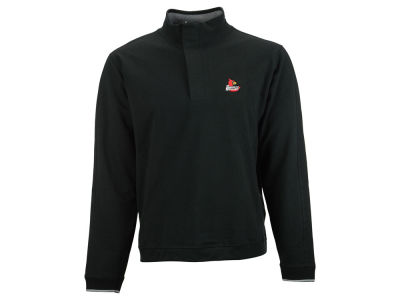 Louisville Cardinals NCAA Men's Solid 1/4 Zip Pullover Sweater