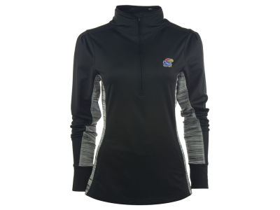 Kansas Jayhawks NCAA Women's Variegated 1/4 Zip Pullover Shirt