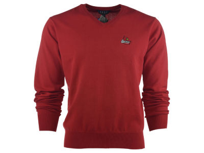 Louisville Cardinals NCAA Men's Solid V-Neck Sweater