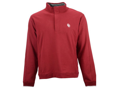 Oklahoma Sooners NCAA Men's Solid 1/4 Zip Pullover Sweater