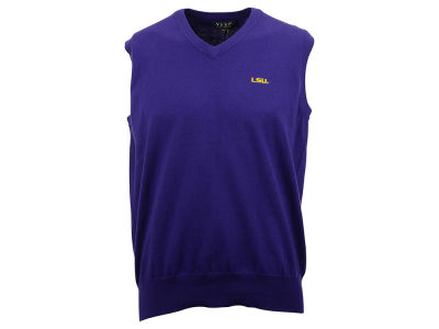 LSU Tigers NCAA Men's Solid Sweater Vest