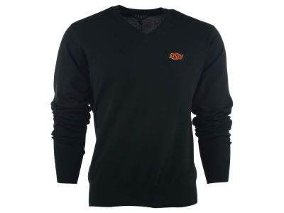 Oklahoma State Cowboys NCAA Men's Solid V-Neck Sweater