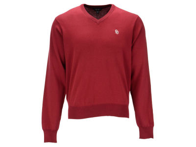 Oklahoma Sooners NCAA Men's Solid V-Neck Sweater