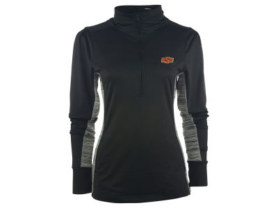 Oklahoma State Cowboys NCAA Women's Variegated 1/4 Zip Pullover Shirt