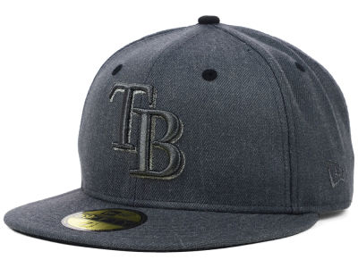 Tampa Bay Rays New Era MLB Graphite Heather 59FIFTY Cap