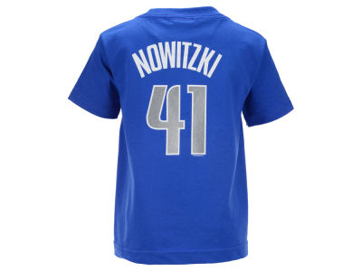 Dallas Mavericks Dirk Nowitzki NBA Kids Name And Number T-Shirt
