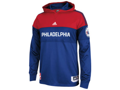 Philadelphia 76ers adidas NBA Men's On Court Long Sleeve Hooded Shooter Shirt