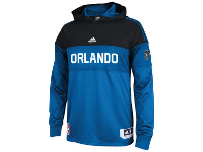Orlando Magic adidas NBA Men's On Court Long Sleeve Hooded Shooter Shirt