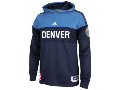 Denver Nuggets adidas NBA Men's On Court Long Sleeve Hooded Shooter Shirt