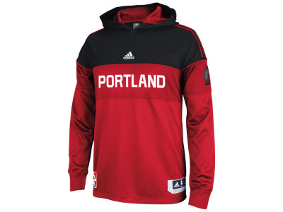 Portland Trail Blazers adidas NBA Men's On Court Long Sleeve Hooded Shooter Shirt