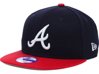 Atlanta Braves New Era MLB Youth Major Wool 9FIFTY Snapback Cap