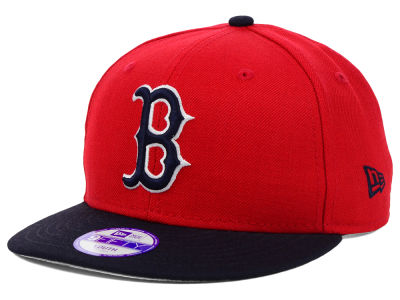 Boston Red Sox New Era MLB Youth Major Wool 9FIFTY Snapback Cap