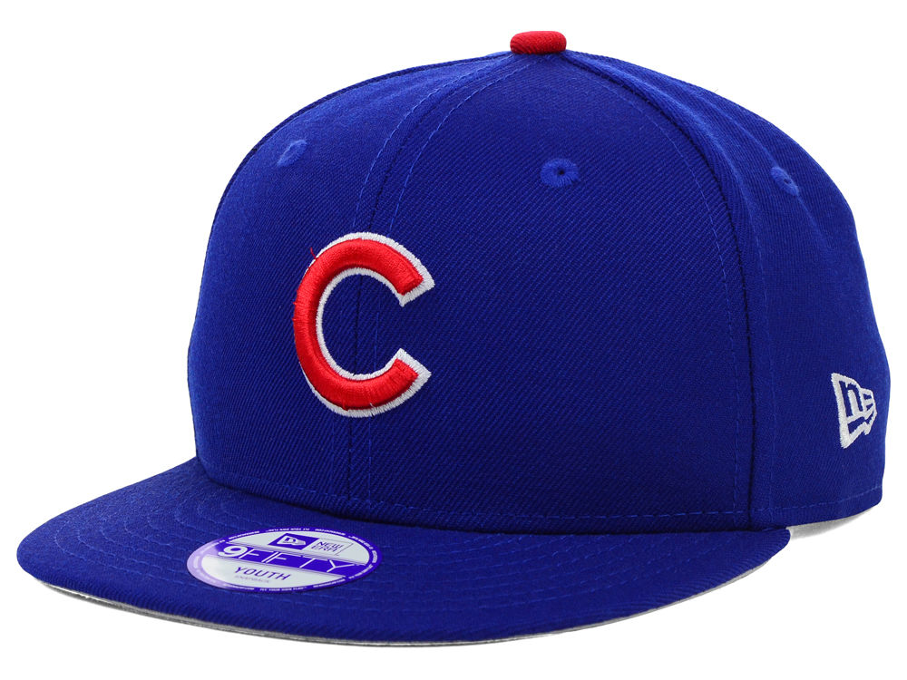 Chicago Cubs New Era MLB Youth Major Wool 9FIFTY Snapback Cap  fdbe1859bb0