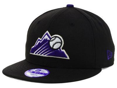 Colorado Rockies New Era MLB Youth Major Wool 9FIFTY Snapback Cap