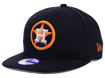 Houston Astros New Era MLB Youth Major Wool 9FIFTY Snapback Cap