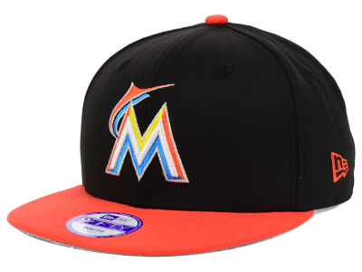 Miami Marlins New Era MLB Youth Major Wool 9FIFTY Snapback Cap