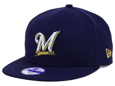 Milwaukee Brewers New Era MLB Youth Major Wool 9FIFTY Snapback Cap