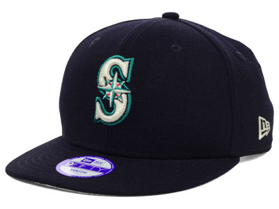 Seattle Mariners New Era MLB Youth Major Wool 9FIFTY Snapback Cap