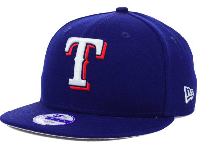 Texas Rangers New Era MLB Youth Major Wool 9FIFTY Snapback Cap