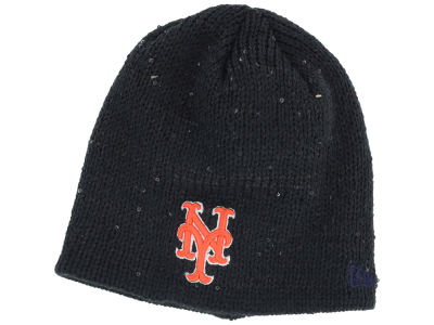 New York Mets New Era MLB Womens Glistener Knit