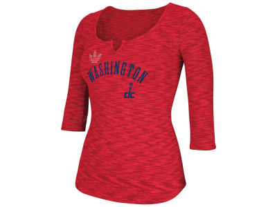 Washington Wizards adidas NBA Women's Team Sparkler 3/4 Henley T-Shirt