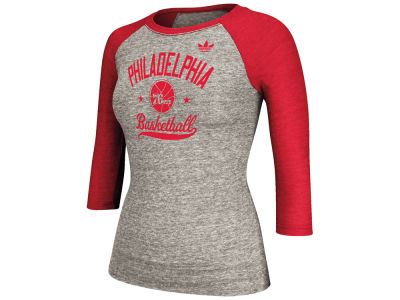 Philadelphia 76ers adidas NBA Women's Street Sweeper Too Raglan Shirt