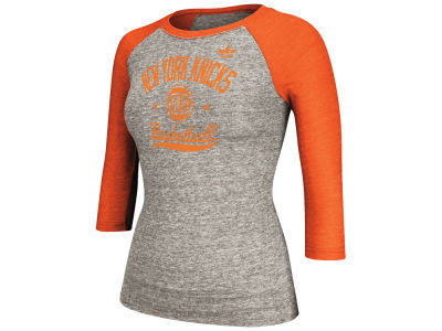 New York Knicks adidas NBA Women's Street Sweeper Too Raglan Shirt