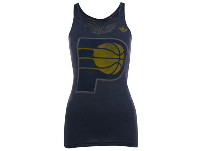 Indiana Pacers adidas NBA Womens Bigger Better Logo Deux Tank