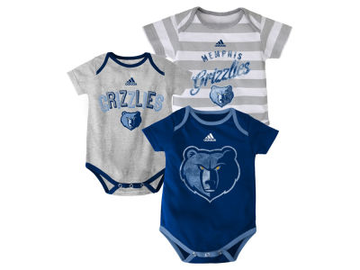 Memphis Grizzlies NBA Infant 3 Point Play Bodysuit Set