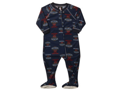 New Orleans Pelicans NBA Newborn Piped Raglan Zip Up Coverall