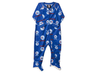 Philadelphia 76ers NBA Newborn Piped Raglan Zip Up Coverall