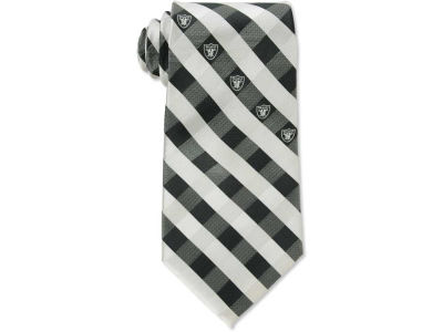 Oakland Raiders Polyester Checked Tie