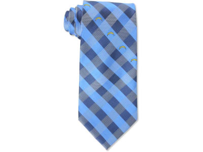 Los Angeles Chargers Polyester Checked Tie
