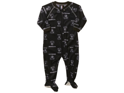 Brooklyn Nets NBA Infant Piped Raglan Zip Up Coverall
