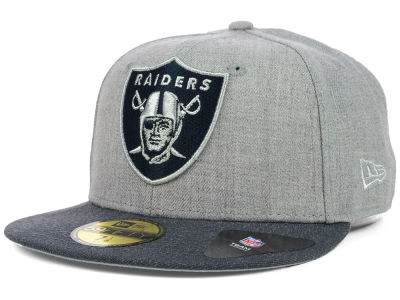 Oakland Raiders New Era NFL Heather 2 Tone 59FIFTY Cap
