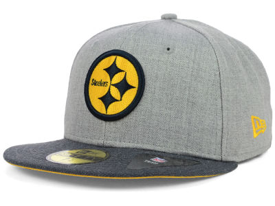 Pittsburgh Steelers New Era NFL Heather 2 Tone 59FIFTY Cap