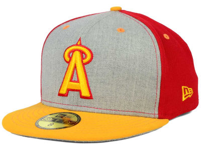 Los Angeles Angels New Era MLB Heather Front Runner 59FIFTY Cap