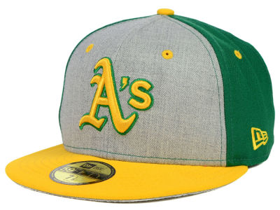 Oakland Athletics New Era MLB Heather Front Runner 59FIFTY Cap