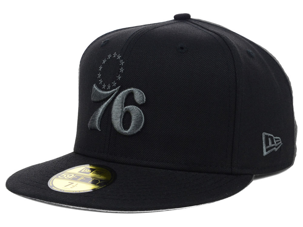 ab163ca186a Philadelphia 76ers New Era NBA Hardwood Classics Black Graphite 59FIFTY Cap