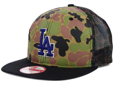 Los Angeles Dodgers New Era MLB Camo Face Mesh Trucker 9FIFTY Snapback Cap
