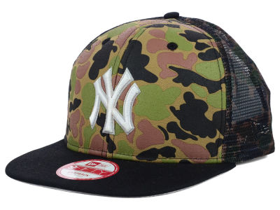 New York Yankees New Era MLB Camo Face Mesh Trucker 9FIFTY Snapback Cap