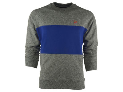 New Era Branded Color Block Crew Neck Sweatshirt