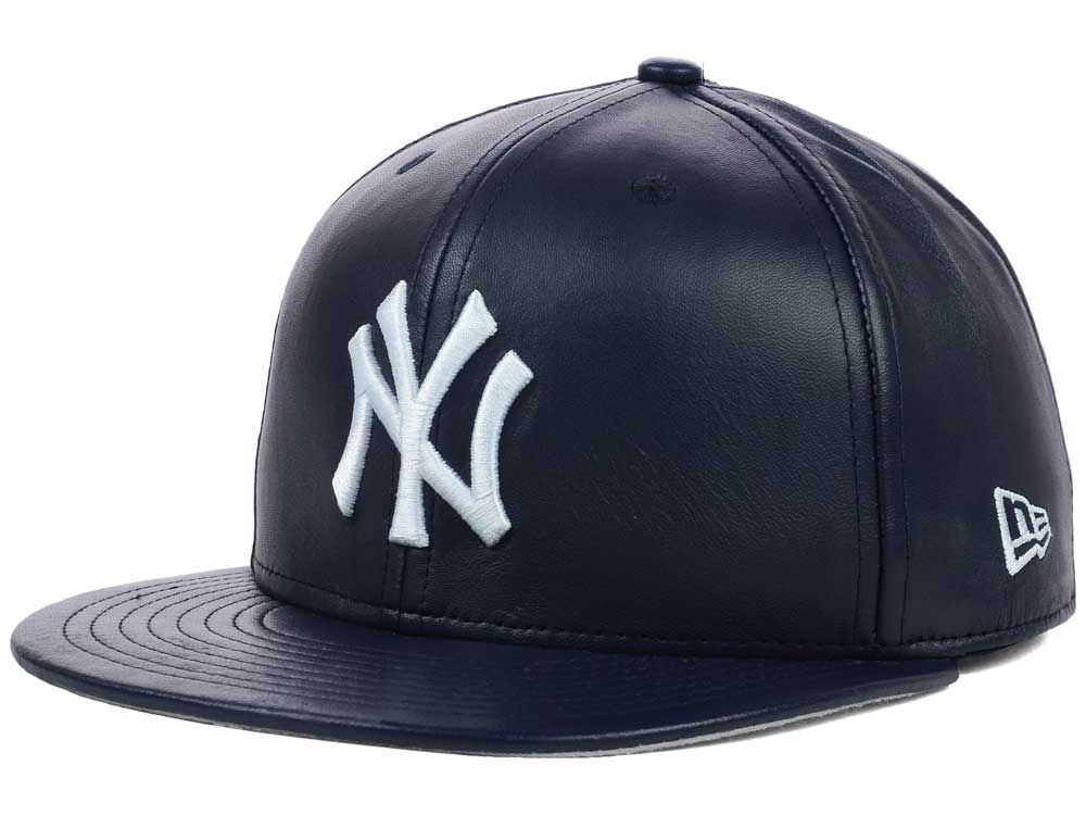 New York Yankees New Era MLB Spike Lee Leather Exclusive 59FIFTY Cap ... a150227102c