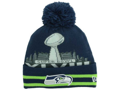 Seattle Seahawks New Era NFL Super Bowl Super Wide Point Knit