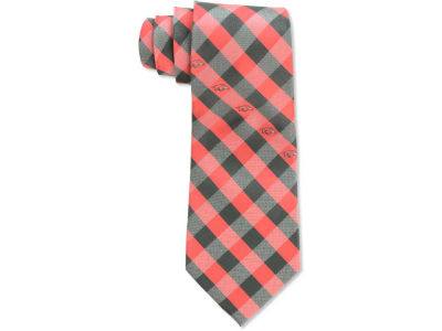 Arkansas Razorbacks Polyester Checked Tie