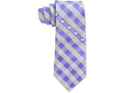 Kansas State Wildcats Polyester Checked Tie