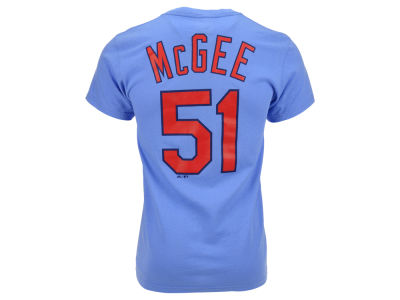 St. Louis Cardinals Willie McGee Majestic MLB Men's Cooperstown Player T-Shirt