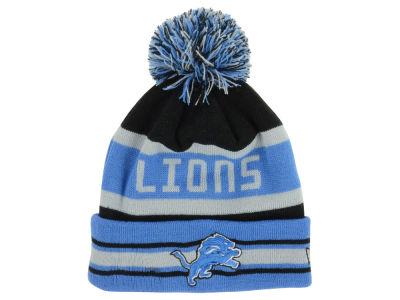 Detroit Lions New Era NFL Team Color Black Jake Knit