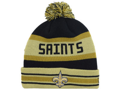 New Orleans Saints New Era NFL Team Color Black Jake Knit
